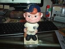 1960's Bobble Head Nodder New York Yankees White Square Base Baseball Nice