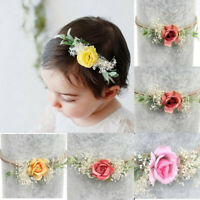Lovely Headband Baby Toddler Girl Newborn Flower Bow Nylon Hair Band Accessory