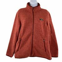 L.L. Bean Sweater Fleece Jacket Full Zip Polyester Misses Large Petite