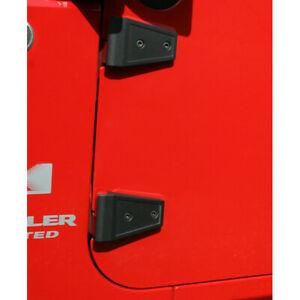 Rugged Ridge Door Hinge Cover Kit, Textured Black; 07-18 for Jeep Wrangler JK