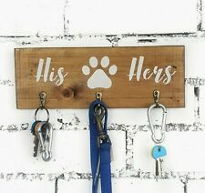 Couples Rustic Key and Lead Holder for Wall