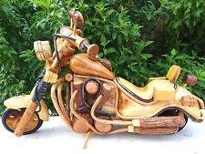 Holz Motorrad Biker Chopper Simson Harley Davidson Honda Harley Geschenk Deko #3