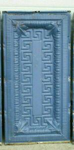 SALE Antique Art Deco Ceiling Tin Tile Greek Key Fret Egg Dart Chic Fleur De Li
