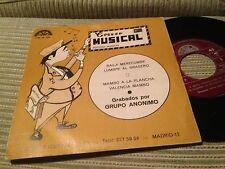 "GRUPO ANONIMO - BAILA MERECUMBE 7"" SINGLE EP PROMOCIONAL - BERTA 75 - MAMBO"