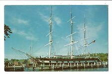 Vintage Postcard Mystic Seaport CT Charles W Morgan Wooden WhaleShip Connecticut