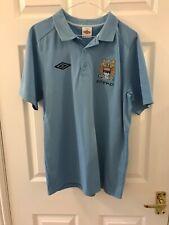 Manchester City Football Club Shirt Size Medium Polo Top MCFC Umbro Shirt