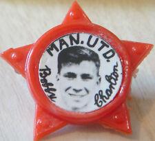 MANCHESTER UNITED Player 1956-1973 BOBBY CHARLTON Rare star badge 35mm x 32mm