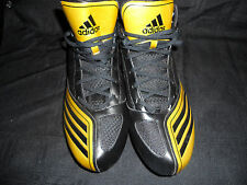 REGGIE BUSH NEW ORLEANS SAINTS GAME USED BLK/GOLD ADIDAS SAMPLE CLEATS SZ-13 WOW