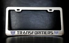"""TRANSFORMERS AUTOBOTS"" License Plate Frame, Custom Made of Chrome Plated Metal"