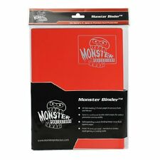 (1) BCW-MB-4P-MRD Red Trading Game Card Binder 4 Pocket Monster Protectors M:TG