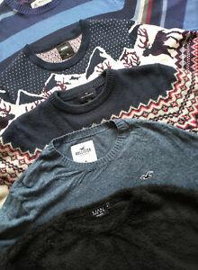 Mens 5x Jumper Sweater Fair Isle Nordic Top Size M Bundle Hollister Burton