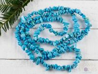 TURQUOISE Dyed Howlite Chip Beaded Necklace - Statement Necklace E0820