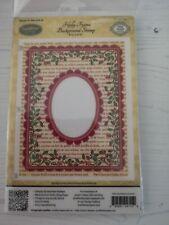 JustRite Cling Stamp - Holly Frame Background Stamp