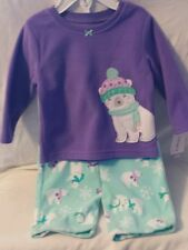 Carter's Baby Clothes: Girl - 2 pc Fleece Pajama set - 12 months - NWT