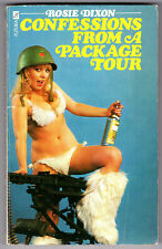"""""""Confessions From a Package Tour"""" Rosie Dixon 1975 Futura paperback"""
