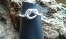 BELLA trama grossa fatto a mano 1.80mm 925 SERLING Argento Love Knot Ring-Tutte le Taglie