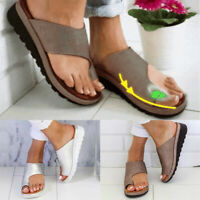 Women Comfy Platform Sandal Shoes - Bunion Corrector - PU LEATHER