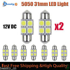 2PC 5050 31mm 4SMD 12V Car Interior Dome Festoon LED Light Bulbs Lamp White