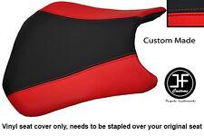 BLACK AND RED VINYL CUSTOM FITS HONDA CBR 600 RR RR5 RR6 05-06 FRONT SEAT COVER