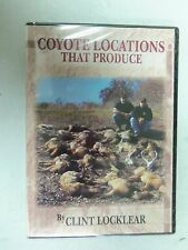 """Clint Locklear """"Coyote Locations That Produce"""" DVD  Traps Trapping"""