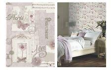 Arthouse Felicity Paris Soft Pink White Grey Black Wallpaper, 665403 SAMPLE ONLY