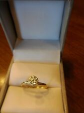 Vintage Diamond Cluster Engagement Ring in 10K Yellow Gold (450)