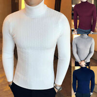 Men'S Lightweight Winter Knitted Cable Pullover Slim Fit Turtleneck Sweater Knit