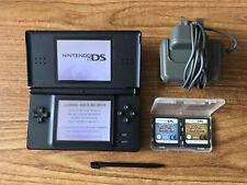 Nintendo DS Lite Black Console + Pokemon HeartGold & Pokemon SoulSilver Bundle