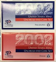 2002 UNITED STATES MINT UNCIRCULATED COIN SET PHILADELPHIA AND DENVER