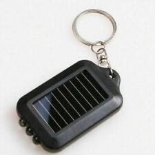 Portable Solar Power 3 LED Lamp Flashlight Torch Key Chain Q0D5 W6F6