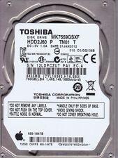TOSHIBA Apple mk7559gsxf PN: hdd2j60 P TN01 T 750GB SATA b12-15