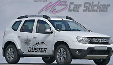Dacia Duster Destination Aufkleber SET Sticker Allrad 4x4 Jeep Prestige Tattoo