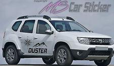 Dacia Duster Destination Aufkleber SET Sticker Allrad 4x4 Jeep Prestige Tattoo