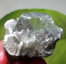 Super transparent Light Blue Beryl on Muscovite Aquamarine crystal China 15-496