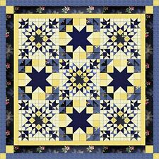 Easy Quilt Kit/ Midnig in the Garden/Pre-cut Fabric Ready To Sew/French Country