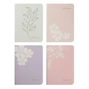 2022 Diary PU Floral with Col Edge A6 WTV 4 Assorted Colours