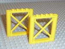 LEGO® 2x Zaun 1x6x5 gelb 64448 aus 7632 5887 60169 60198 4645 F2044