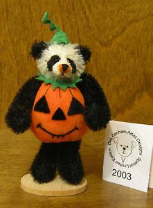 DEB CANHAM Artist Designs PANDA PUMPKIN Halloween Coll  Mohair From Retail Store