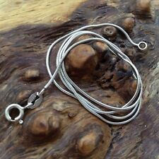 Snake Chain - Sterling Silver  (18 inches - 450mm Long) (1mm Thick) (Style 2)