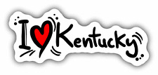 "I Love Kentucky Travel Slogan USA Car Bumper Sticker Decal 6"" x 3"""