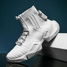 Mens Sneakers Fashion Breathable High Top White Casual Men Shoes Tenis Masculino