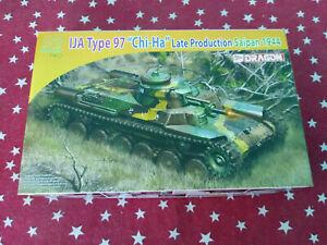 Dragon Models #7397 WW2 Japanese Type 97 Chi-Ha Tank Kit New in Box