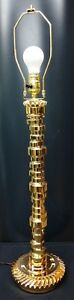 Gold Chrome Camshaft Table Lamp 3 way switch