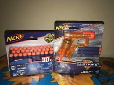 Nerf N-Strike Elite Jolt Blaster with 30x Pack Elite Darts Blue - Orange