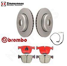 For BMW E60 E63 E64 535i Rear Vented Brake Disc Rotors Ceramic Pads & Sensor OEM
