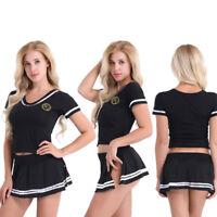 Sexy Uniform Lingerie Women Outfit School Girl Dress Fancy Cheerleader Costume