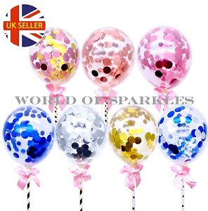 1pcs Confetti Party Supplies Balloons Cake Topper Wedding Baby Shower Decoration