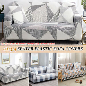 1/2/3/4 Seater Elastic Sofa Covers Slipcover Stretch Settee Couch Protector φ