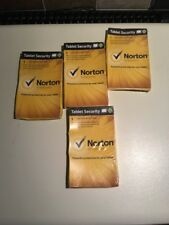 4 x Norton Tablet Security 1 Year For Android 2.2 + Sealed