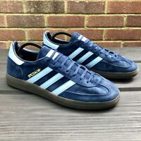 Adidas Handball Spezial Navy Blue/Sky Blue Gum Sole Trainers - UK 10, US 10.5